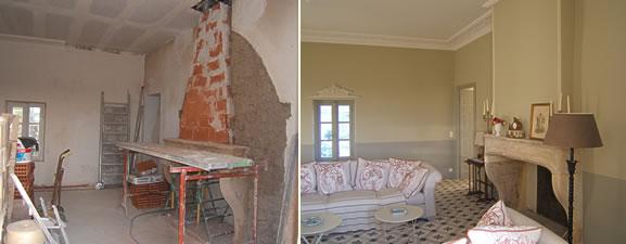 cheminée, avant et après