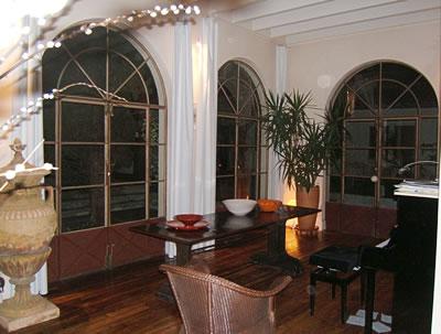 véranda avec baies vitrées